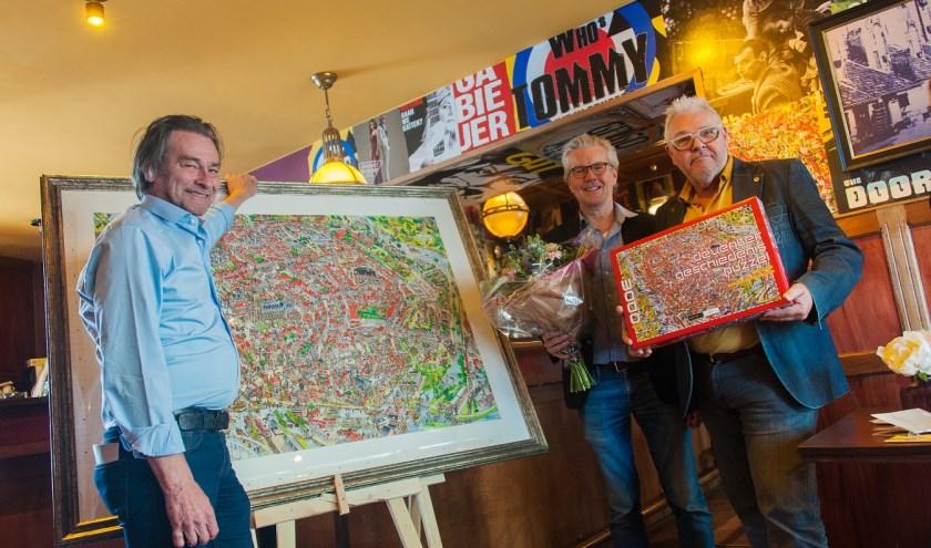 Op 6 oktober puzzelen teams in de hele stad aan de Deventer Geschiedenis Puzzel, een puzzel met 221 historische feiten op humoristische wijze verwerkt in één grote tekening.