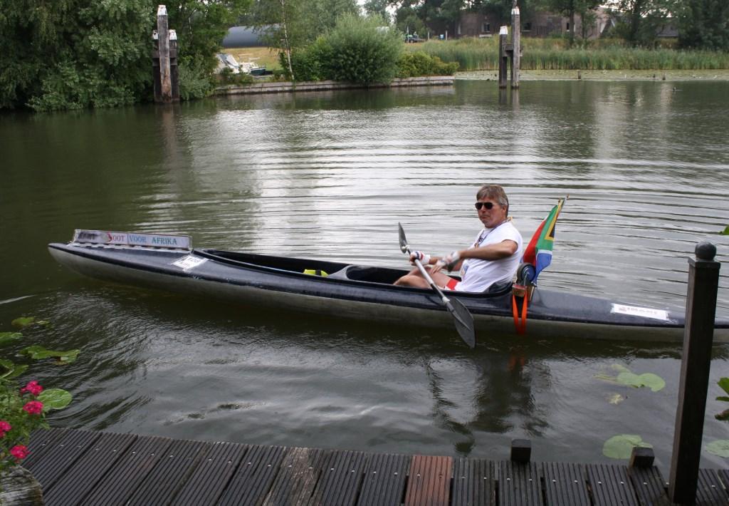 Dirk Zwart begint aan de laatste etappe.  © Persgroep