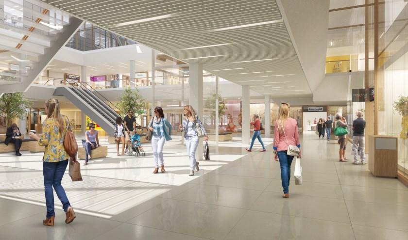De renovatie van winkelcentrum Bisonspoor is in volle gang. Beeld: Wintertrust