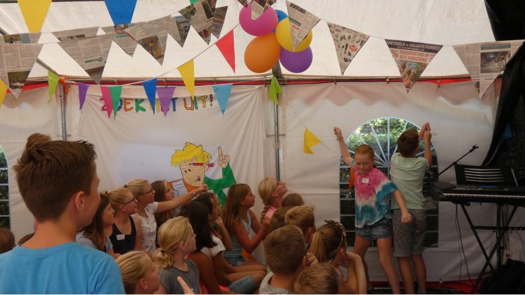 Competitiespel tienertent Foto: Nelleke Brenkman © Persgroep