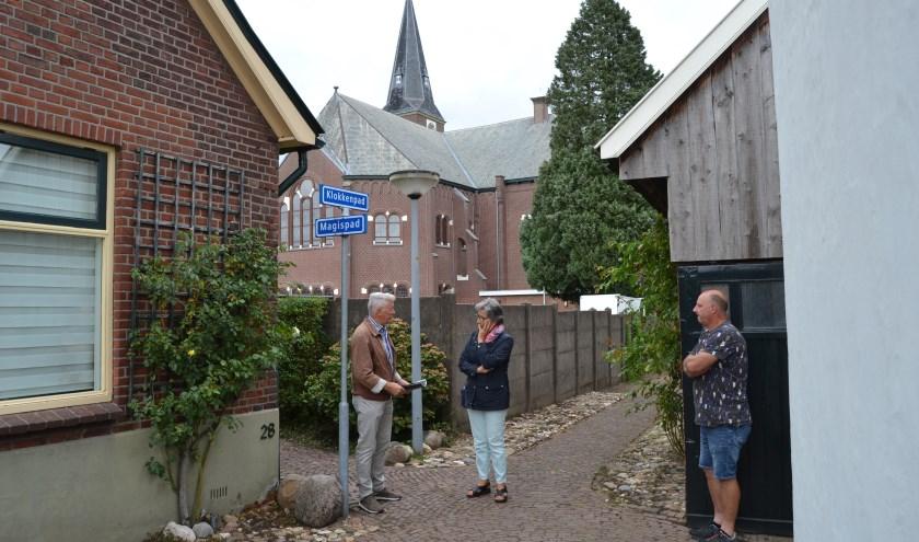 Tonnie Stoltenborg vertelt over de namen van de gängeskes. Foto: Karin Stronks