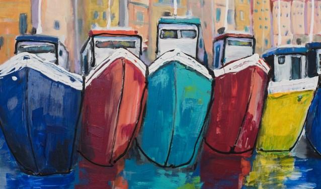 'Happyboats', een werk van Martine van Noort   | Fotonummer: 402ba0