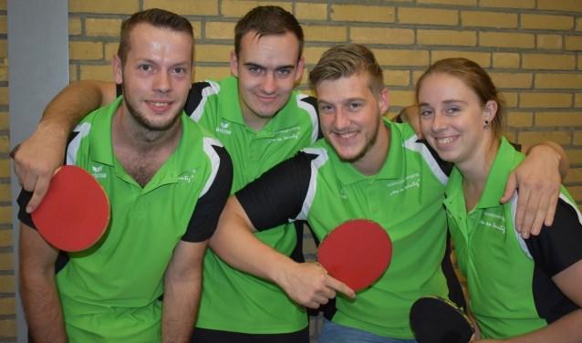 TTV Een en Twintig team 6: Chris Klingsporn, Kevin Biemans, Tim van Dalen en Christi Eekels  | Fotonummer: c8b078