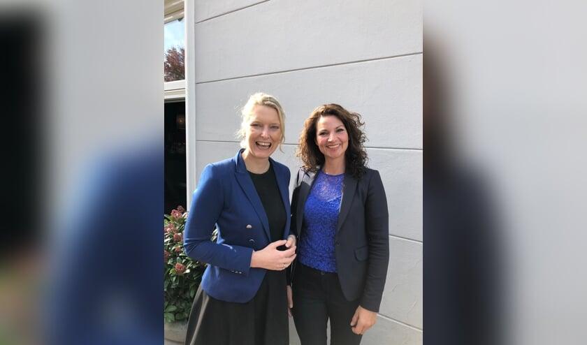 Marianne van der Sloot (voorgedragen als lijsttrekker) met Tanja van de Ven (voorgedragen voor plaats 5)   | Fotonummer: 9405fe