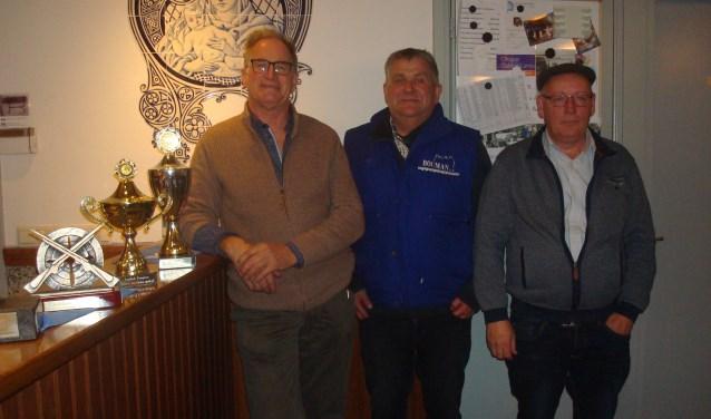 Vlnr: Henk van der Velden, Gerard Maas en Hans van de Boomen  | Fotonummer: 66973b