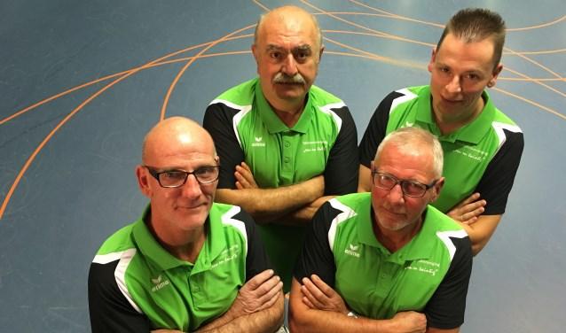 Team 4: Vlnr: Patrick Biemans, Paulos Kallah, Tonnie van Berlo en Addy Verbakel    Fotonummer: 8e0084