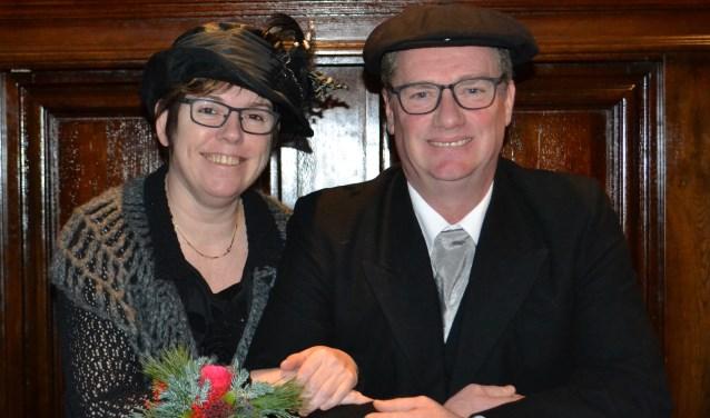 Boerin Frieda en Boer Willem (archieffoto)     Fotonummer: 5f9b5c