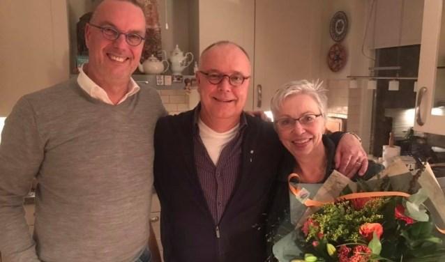 Vlnr: Theo van Hoek, Erik en Annet van Haperen   | Fotonummer: e23f48