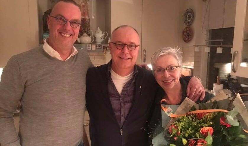 Vlnr: Theo van Hoek, Erik en Annet van Haperen     Fotonummer: e23f48