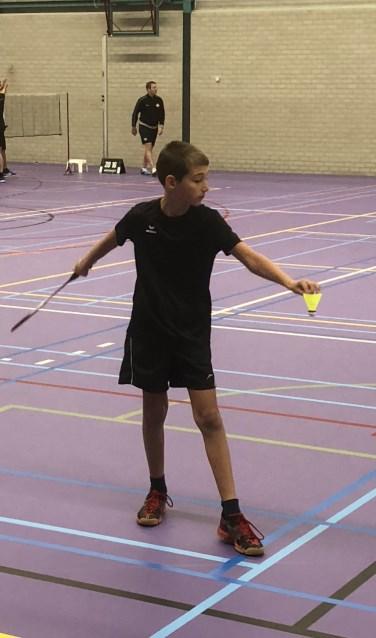 Thijs van Sinten wist voor BCL-U13 een wedstrijdpunt binnen te halen  | Fotonummer: 3e115a