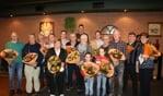 Huldiging jubilarissen bij Supportersclub 'De Lieshoutse Wielrenners'