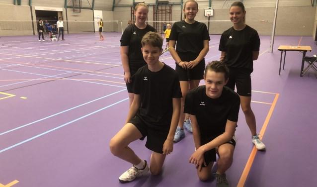 BCL-U17 met Joelle Timmers, Imke Wassenberg, Ainara Vandegard, Stijn Brouwers en Tim Kanters  | Fotonummer: 5fc0e3