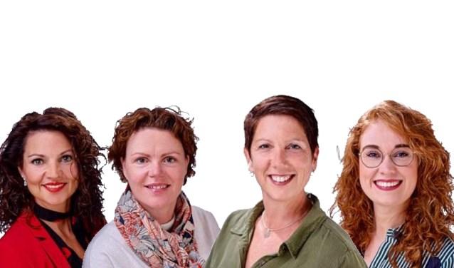 Vlnr: Tanja van de Ven, Harriëtte van Delden, Nicole Verhoeven en Veerle van Schaijk  | Fotonummer: 040885