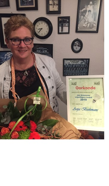 Anja Beekmans, vrijwilliger van het jaar bij BC Mixed  | Fotonummer: c88e8b