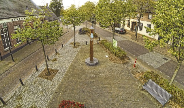 Een deel van het Heuvelplein in Beek en Donk   | Fotonummer: a89cb8
