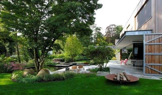 De weldadige terrassentuin van jaap sterk hoveniers tuin van het