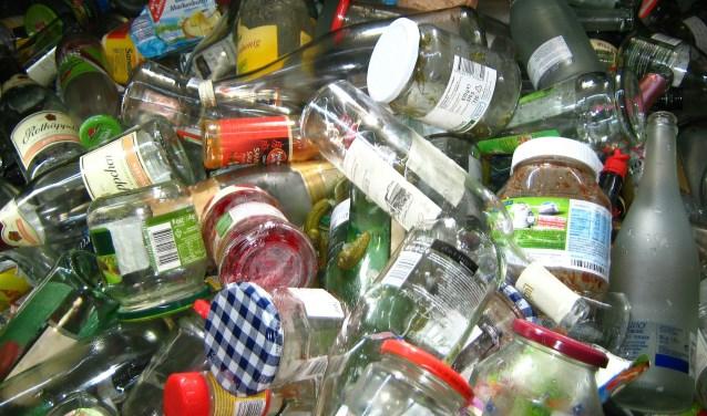 Glas is een van de eerste grondstoffen die apart werd ingezameld.