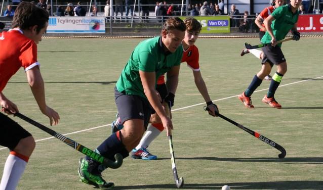 De hockeyheren van Voorhout versloegen IJmond.  | Foto: PR