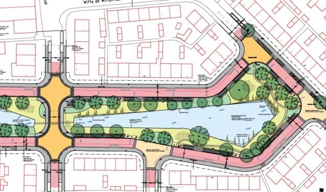Deel van het ontwerp van de Zeeheldenwijk.