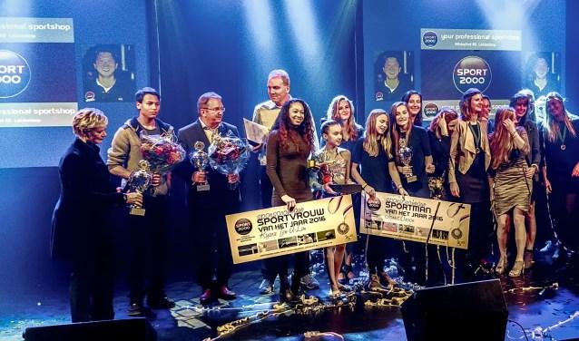 De winnaars van de Leiderdorpse Sporverkiezingen in 2016.