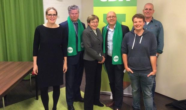 De kandidaten voor het CDA in Lisse.