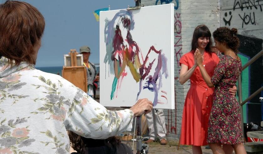 Vanaf 19 juni wordt wederom het Schilderfestival gehouden met deelnemers uit Europa, Amerika en Australië | Foto: Archief