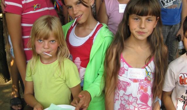 Kinderen en leiding genieten momenteel van de kampen in Oekraïne.