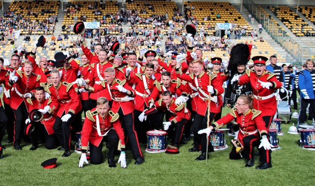 Muzikanten Flora Band zijn ongelofelijk blij en trots op hun prestatie: Wereldkampioen Mars 2017. | Foto: J. Grzelak.
