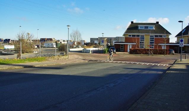 De bouwweg naar het Heemlandterras in aanbouw. | Archieffoto Willemien Timmers