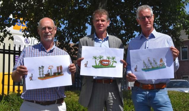 V.l.n.r.: Daan de Mooij (secretaris), Dirk Hogervorst (voorzitter), Hans Oudwater (PR). | Foto: Piet van Kampen