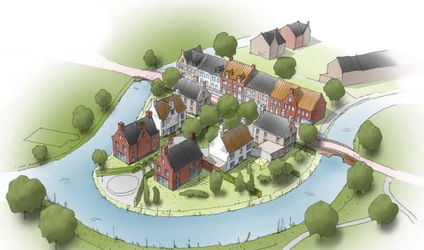 Impressie van nieuwbouwproject Vlieteiland.