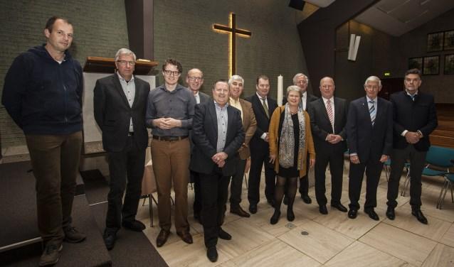 De ondertekenaars van de Protestante Gemeente Rijnsburg.