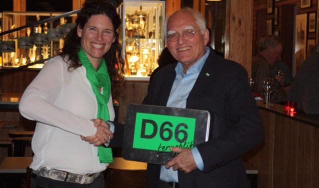 D66 vrijwilliger van het jaar Onno Gaarlandt. | Foto PR