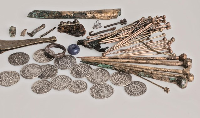 De schatbuidel van de speldenmaker behoorde tot de vele bijzondere voorwerpen die zijn gevonden bij de opgravingen van het oude Leithon.