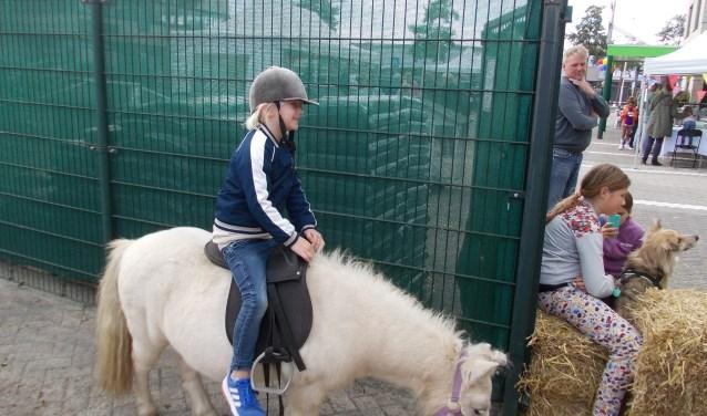 Een ritje maken op een pony kon ook. | Foto's: Piet de Boer Foto: piet de boer © uitgeverij Verhagen