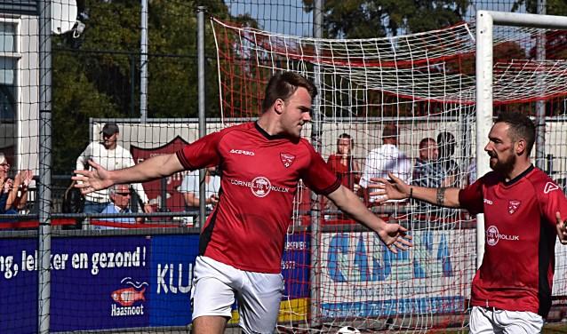 Max van Steen heeft de score geopend. | Foto: PR