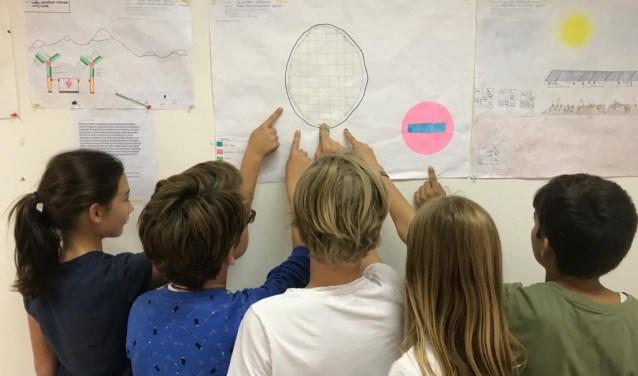 Leerlingen van de GDT bij hun idee.
