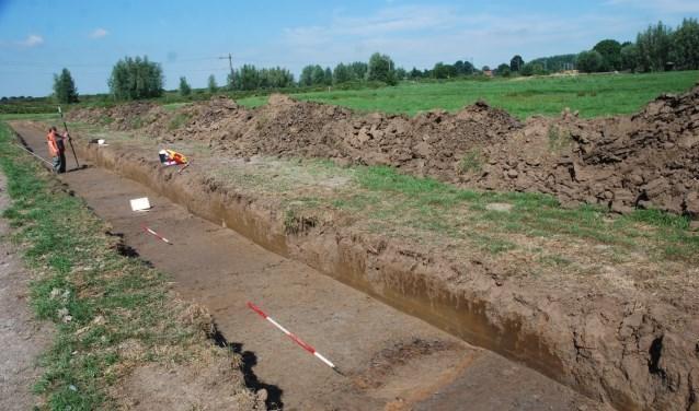 Een opgraving van een vergelijkbare Romeinse weg.
