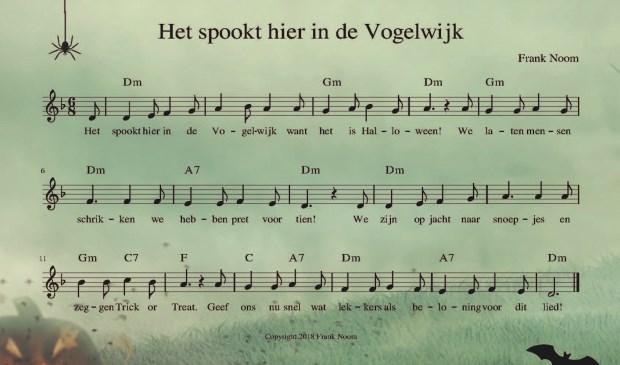 Voor de Halloweenviering in de Vogelwijk is zelfs een speciaal lied gemaakt.