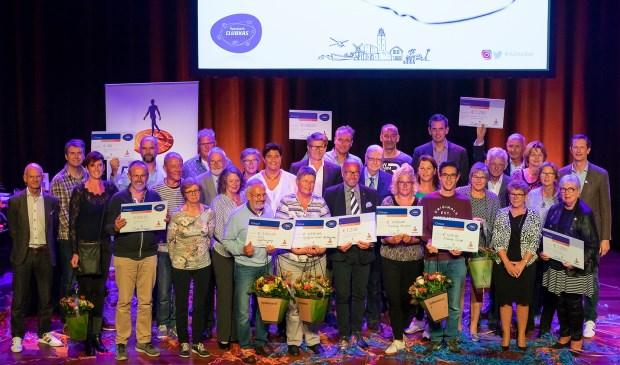 De winnaars van de clubkascampagne.