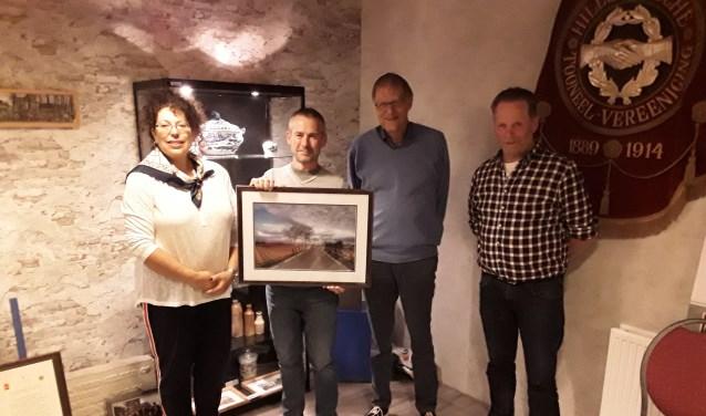 Vlnr: Jacolien van der Valk, Tony Whelan, Hans Lommerse en Gerard van der Post.| Foto: Jan Zeilemaker