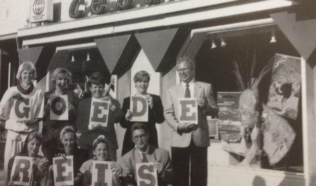 Een foto uit een tijd dat er nog geen reizen werden geboekt via internet.