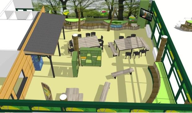 De laatste versie van het inrichtingsplan voor het vernieuwde Milieu Educatief Centrum.