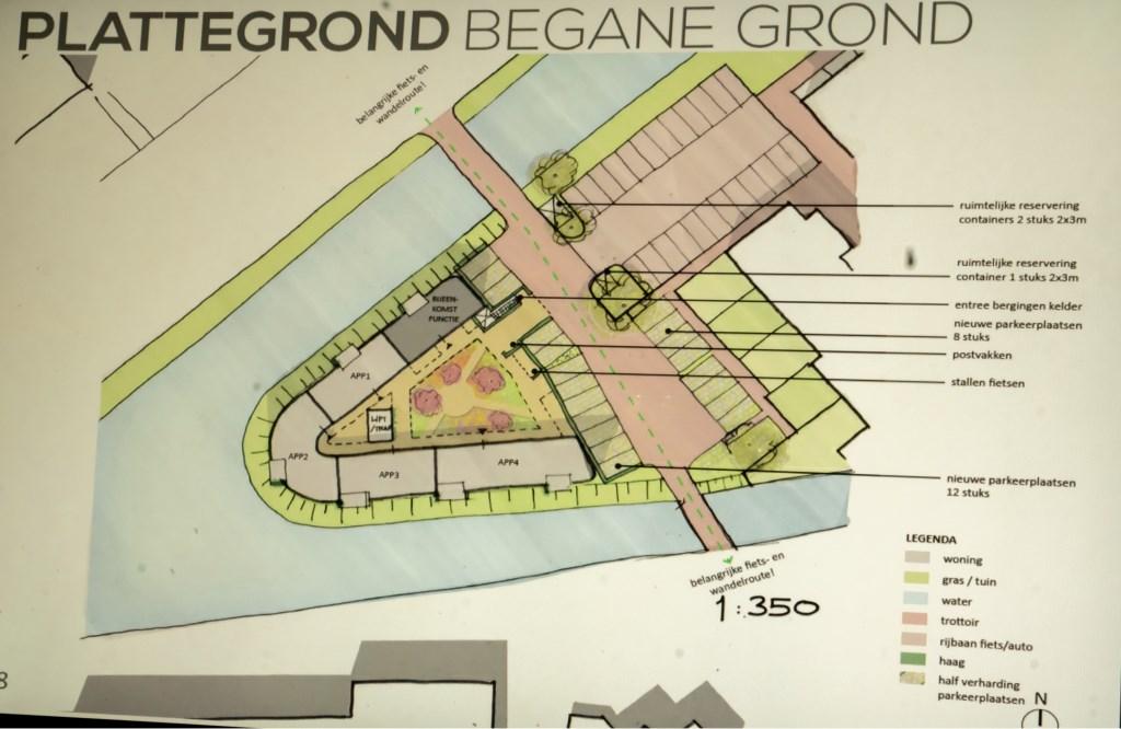 Een plattegrond behorende bij het schetsplan voor de Menswordinglocatie. (Bron: Van Manen architecten) Foto: Johan Kranenburg © uitgeverij Verhagen