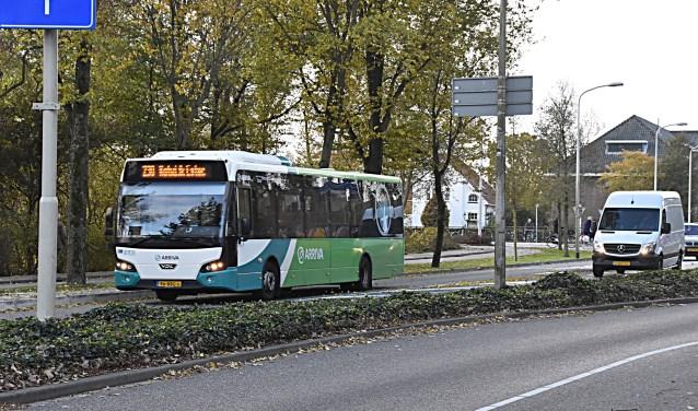 e bushalte komt iets verder en het invoegen wordt anders. | Foto en tekst: Piet van Kampen