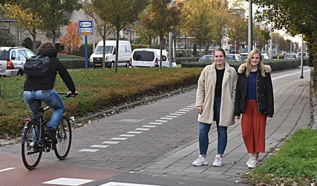 Hendrina en Athene op het gevaarlijke punt. Laurissa ontbreekt op de foto. | Foto: Piet van Kampen