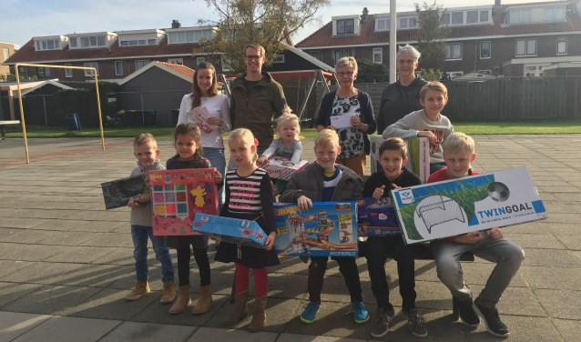De winnaars kregen bij speeltuinvereniging Marijke hun prijzen.