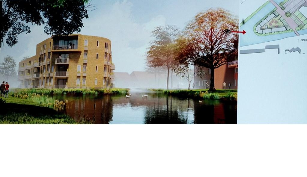 Een schetsimpressie van het plan voor de Menswordinglocatie. (Bron: Van Manen architecten) Foto: Johan Kranenburg © uitgeverij Verhagen