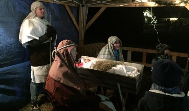Aan het einde van de tocht  was daar het kindje Jezus in de kribbe.