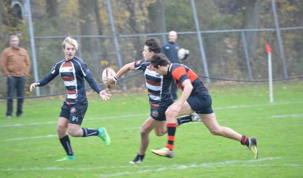 Lucas de Waaij in de aanval voor de Sassenheims ploeg. | Foto: pr.